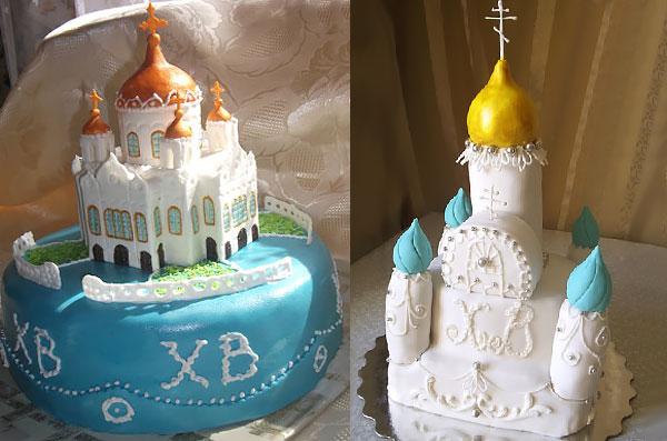Пасхальный торт-церквушка