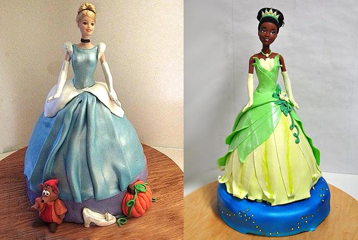 Фото торта с куклой из мастики
