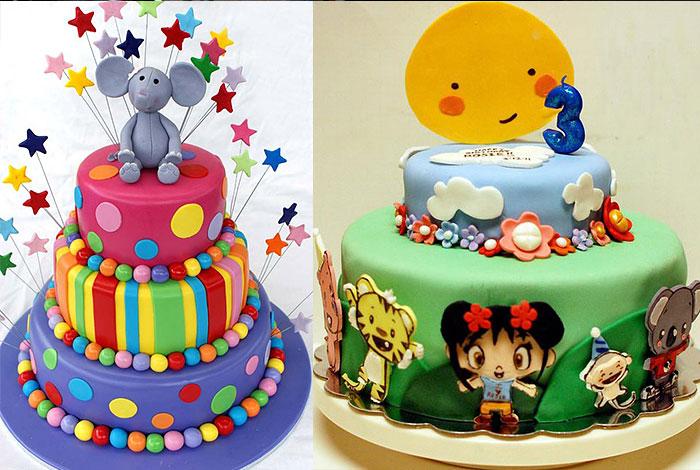 Фото детского торта с мультяшками