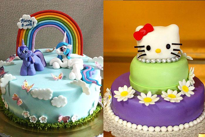 Фото детского торта с Пони и Китти