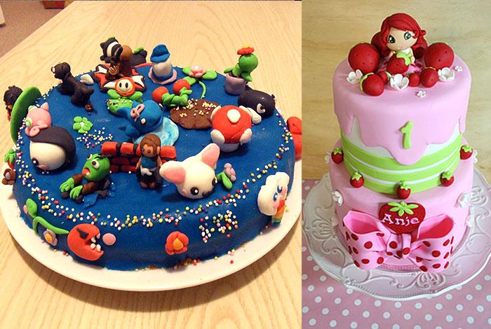 Фото детского торта со сказочными героями