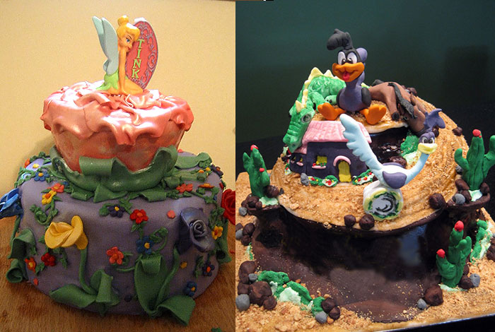 Фото детского торта с мультяшными героями