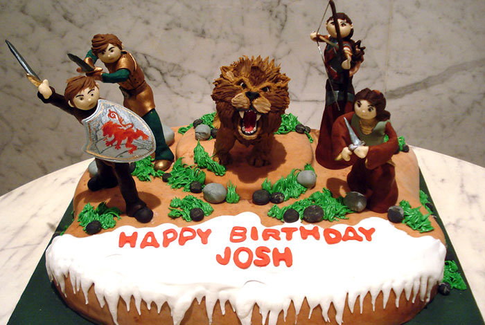 Фото детского торта с героями фэнтези