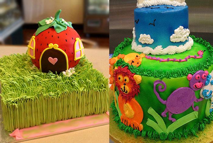 Фото детского торта - лето и зоопарк