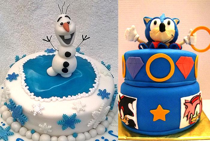 Фото детского торта - зима и цирк