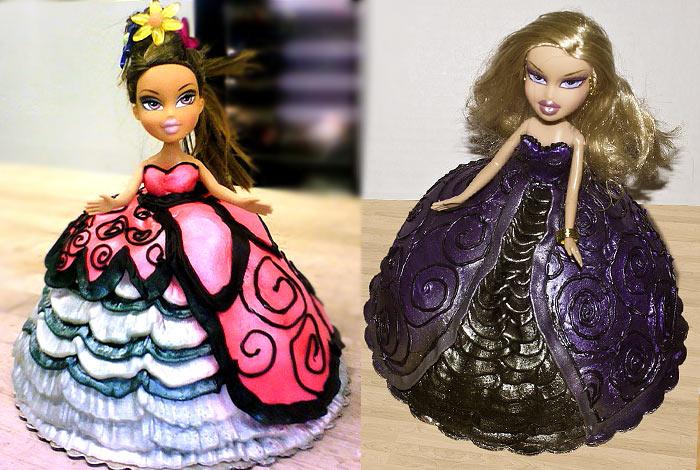 Фото торта с куклой