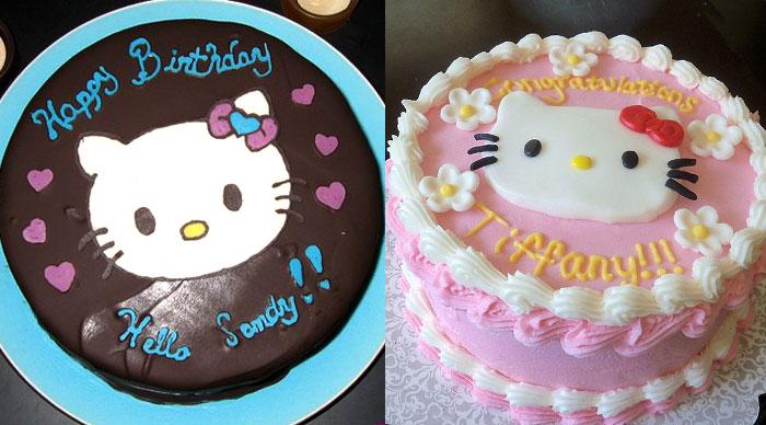 Фото детского торта - идея рисунка с Китти