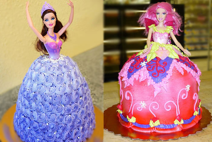 Фото торта с пластмассовой куклой