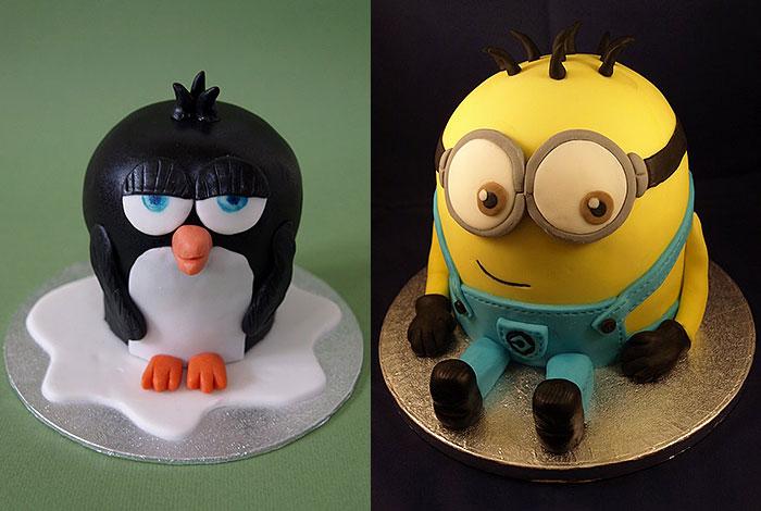 Фото детского торта с героями мультфильмов
