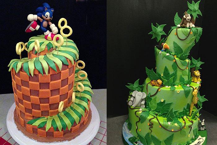 Фото детского торта с горками