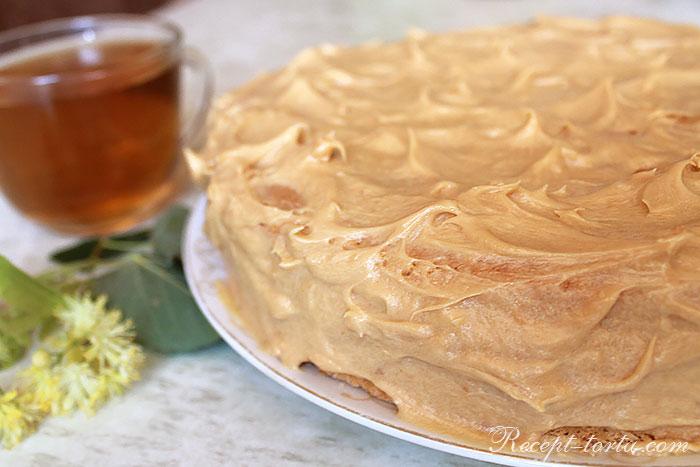 Торт из готовых коржей- итоговое фото