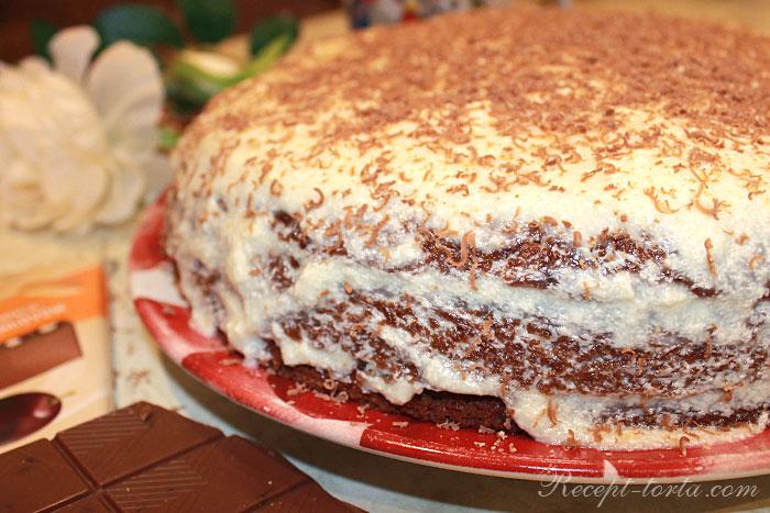 Итоговое фото вкусного торта из тыквы