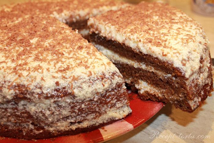 Торт из тыквы в разрезе - итоговое фото