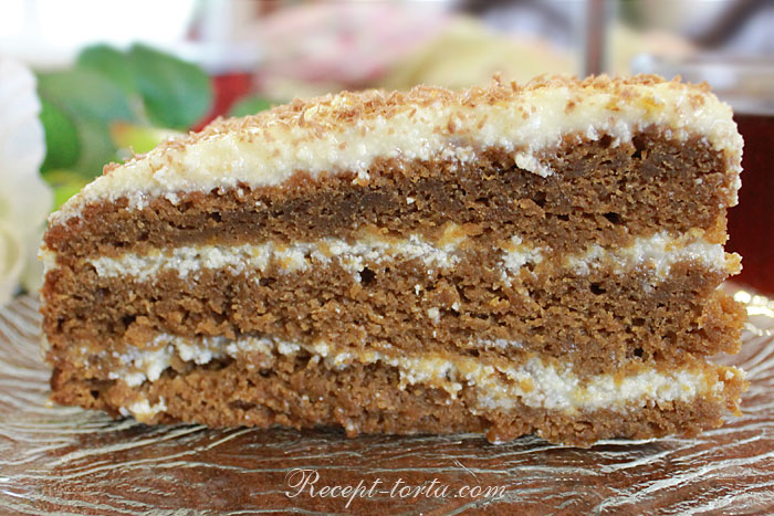 Итоговое фото кусочка тыквенного торта