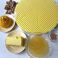 Продукты для вафельного торта с медовым кремом - фото