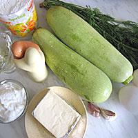 Ингредиенты для кабачкового торта с сыром - фото