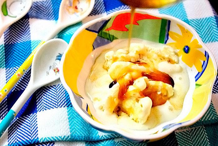 Апельсиновый сироп на домашнем мороженном
