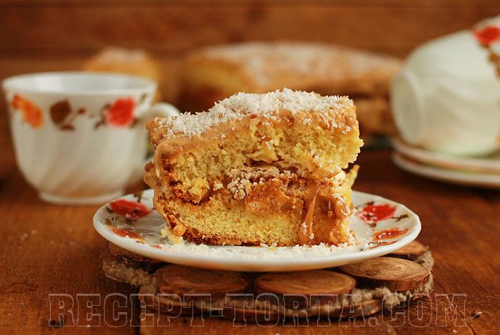 Карамельно-апельсиновый торт итоговое фото