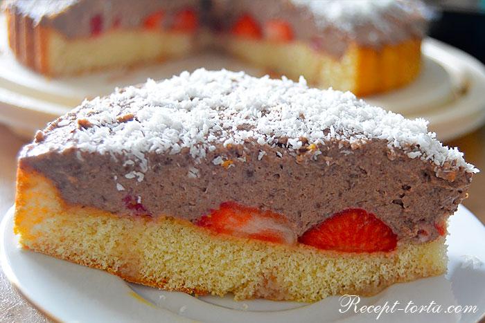 В разрезе торт из покупного коржа по рецепту с фото
