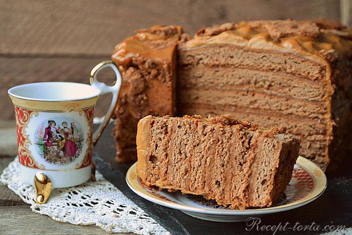 Фото готового торта Карамельный медовик