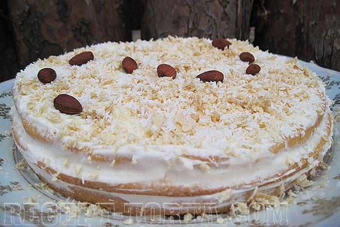 Фото готового Миндального торта