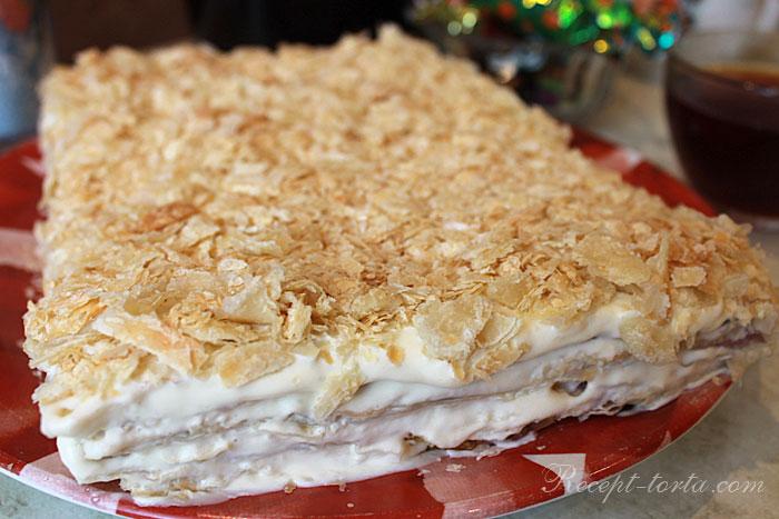 Итоговое фото торта Наполеон-Пломбир