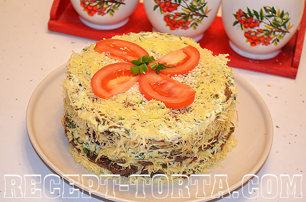 Печеночный торт пошагово - итоговое фото
