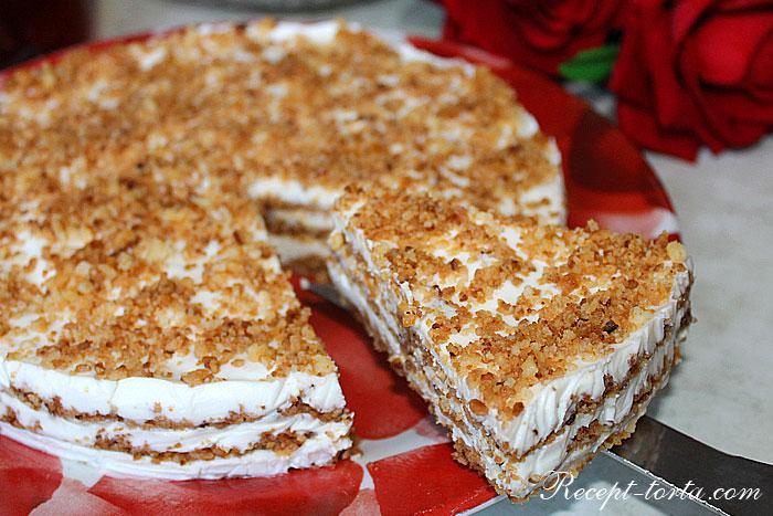 Итоговое фото торта Пломбир в разрезе