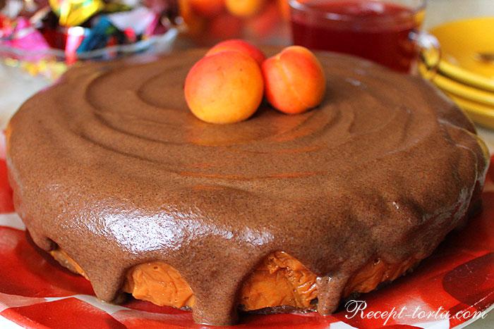 Итоговое фото абрикосового торта Птичье молоко