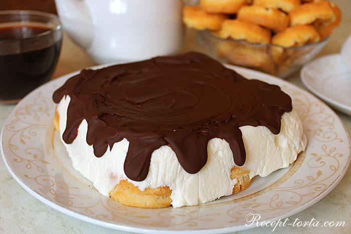 Итоговое фото торта Птичье молоко на скорую руку