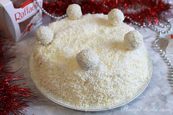 Итоговое фото Новогоднего торта Рафаэлло