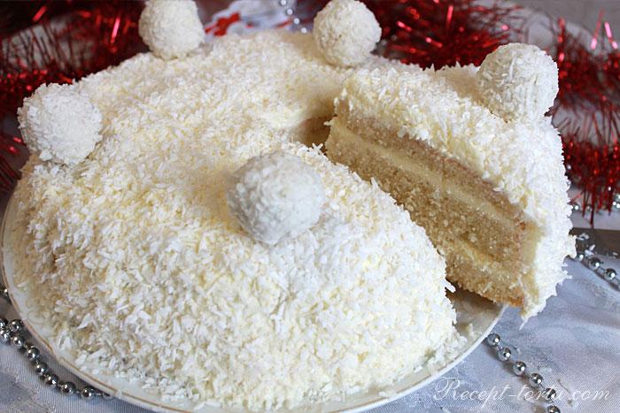 Торт на Новый год в разрезе