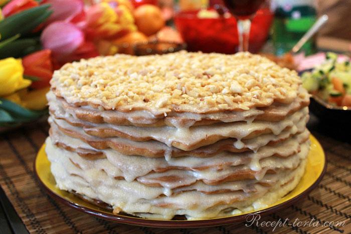 Итоговое фото торта Рыжик, приготовленного в домашних условиях