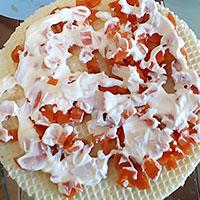 Вафельный корж с морковкой - фото