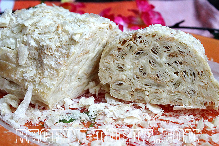 Торт Слоеное полено рецепт с фото