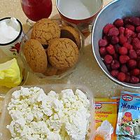 Ингредиенты для торта из овсяного печенья - фото