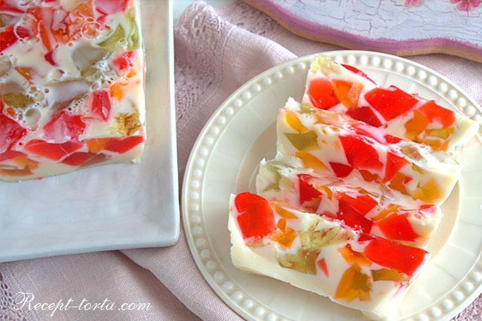 Итоговое фото торта Битое стекло