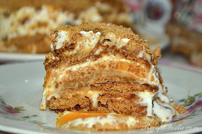 Фото пряничного торта в разрезе
