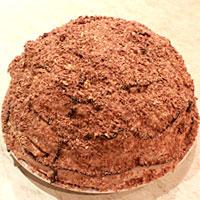 Украшаем заварной торт - фото