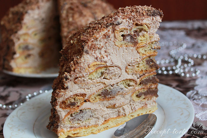 Торт из заварного теста с шоколадом рецепт с фото