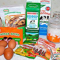 Ингредиенты для Торта Птичье молоко с манкой
