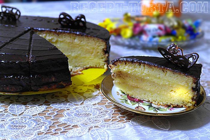 Пошаговый рецепт Торта Птичье молоко с манкой