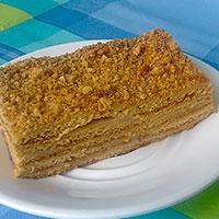 Посыпе готовый торт Рыжик - фото