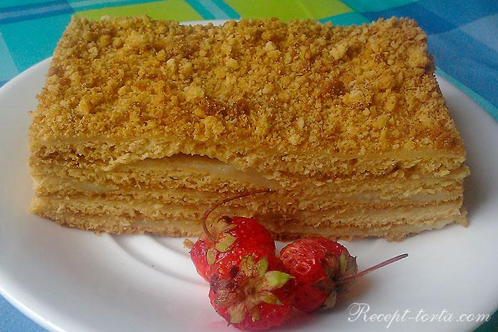 Классический торт рыжик в разрезе - фото