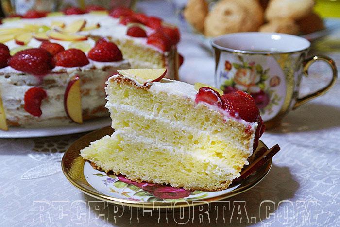 Готовый торт Сметанник