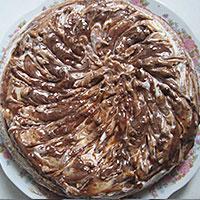 Украсим торт Зебра глазурью - фото