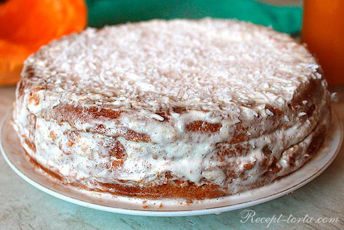 Итоговое фото готового тыквенного торта
