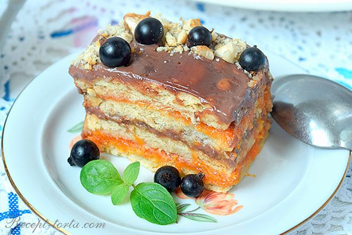 Готовый торт из печенья без выпечки со сметаной