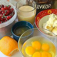 Ингредиенты для желейного торта со сметаной и бисквитом